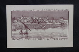 EGYPTE - Carte Postale - Carte Du Savoy Hôtel De Luxor -  L 52480 - Luxor