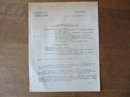 ETAT FRANCAIS LILLE LE 29 OCTOBRE 1943 LE PREFET FERNAND CARLES NOTE OBJET CELEBRATION DES 1er ET 2 NOVEMBRE 1943 - Historische Documenten