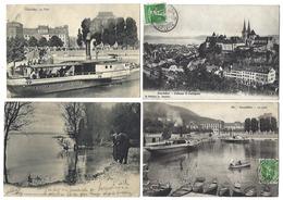 SUISSE - NEUCHÂTEL - Lot De 5 CPA - 1905 à 1909 - NE Neuchâtel