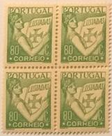 "POR#4885-Block Of 4 MNH Stamps Of 80 Centavos - ""Lusíadas"" - Portugal - 1931 - Blocchi & Foglietti"