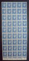 FRANCE 1941 Feuille De 50 N° 521A Neuf** - MNH - Type Pétain - Feuilles Complètes