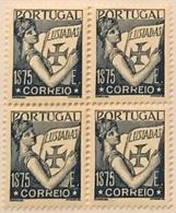 """POR#4883-Block Of 4 MNH Stamps Of 1.75 Escudos - """"Lusíadas"""" - Portugal - 1938 - Blocchi & Foglietti"""
