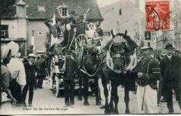 N°3151 T -cpa Ligueil -char De La Croix Rouge -attelage- - Francia
