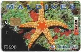 Maldives - Dhiraagu (chip) - Starfish - 256MLDGID - Chip Siemens S35, 200MRf, Used - Maldivas