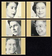 GREAT BRITAIN 2002 Golden Jubilee Of Queen Elizabeth II: Set Of 5 PHQ Postcards MINT/UNUSED - 1952-.... (Elizabeth II)