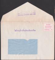"""Aufkleber """"zurück! Unzureichende Freimachung"""" Fehlbetrag ... Pf."""" Bf Als Wirtschaftsdrucksache, EAW Elektromik Dresden - DDR"""