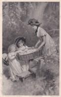 P Tarrant-  Jeune Femme Et Enfants - Photogravure Série 6152  (lot Pat 99) - Frauen