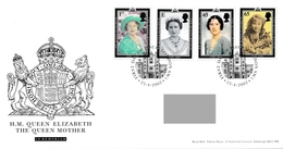 GREAT BRITAIN 2002 Queen Elizabeth The Queen Mother Commemoration: First Day Cover CANCELLED - 2001-2010 Dezimalausgaben