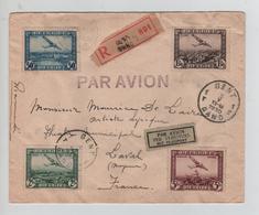 REF276/ TPA 1/4 S/L.recommandée Avion C.Gent 5/5/1930 > Laval France - Luftpost