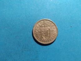 GRAN BRETAGNA1 SHILLING 1955 - 1902-1971 : Monete Post-Vittoriane