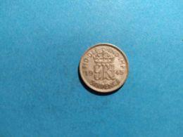 GRAN BRETAGNA 6 PENCE 1945 - 1902-1971 : Monete Post-Vittoriane