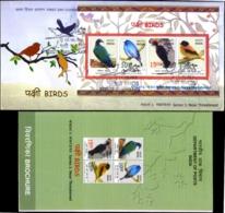 BIRDS-NEAR THTREATENED BIRDS-MS ON FDC-VARIETY- INDIA-2016 - SCARCE-BX2-7-16 - Specht- & Bartvögel