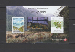 New Zealand Best Of 2019, Year Of The Pig, Puysegur Point Lighthouse, Native Alpine Flora S/s MNH - Nouvelle-Zélande