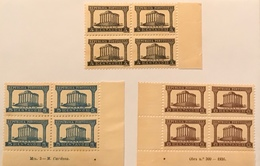 """POR#4870-Complete Set Of 3 Blocks Of 4 MNH Stamps - """"Templo De Diana"""" - Portugal - 1935-1936 - Blocchi & Foglietti"""