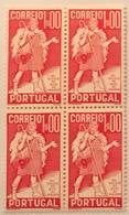 """POR#4850-Block Of 4 MNH Stamps Of 1 Escudo - """"4. Centenário Da Morte De Gil Vicente"""" - Portugal - 1937 - Blocchi & Foglietti"""