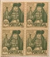 "POR#4835-Block Of 4 MNH Stamps Of 4 Centavos - ""Costumes Portugueses-Praia Da Nazaré - 1. Emissão"" - Portugal-1941 - Blocchi & Foglietti"