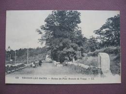 CPA 74 THONON LES BAINS Ruines Du Pont Romain De VOUGY Animée  RARE PLAN - Thonon-les-Bains