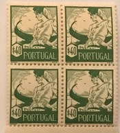"""POR#4831-Block Of 4 MNH Stamps Of 40 Centavos - """"Costumes Portugueses - Aveiro - 1. Emissão"""" - Portugal - 1941 - Blocchi & Foglietti"""