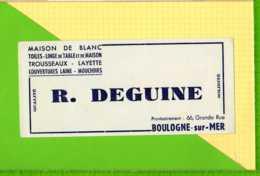 Buvard & Blotting Paper :Maison De Blanc R. DEGUINE  Boulogne Sur Mer - Textile & Vestimentaire