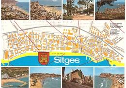 SITGES CARTOLINA PER BELGIO - Carte Geografiche
