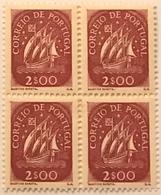 """POR#4816-Block Of 4 MNH Stamps Of 2 Escudos - """"Caravela"""" - Portugal - 1943 - Blocchi & Foglietti"""