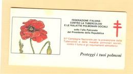 """FEDERAZIONE ITALIANA CONTRO LA TUBERCOLOSI -CAMPAGNA 51° -"""" PROTEGGI I TUOI POLMONI""""LIBRETTO COMPLETO NUOVO,I.P.Z.S.- - Malattie"""