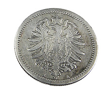50 Pfennig - Allemagne - 1876 A -  Argent  - TTB - [ 2] 1871-1918: Deutsches Kaiserreich