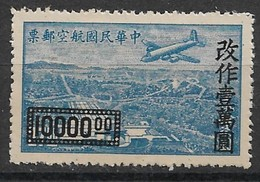Republic Of China 1948. Scott #C61 (M) Douglas DC-4 Over Sun Yat-sen Mausoleum, Nanking ** Complet Issue - 1945-... Republic Of China