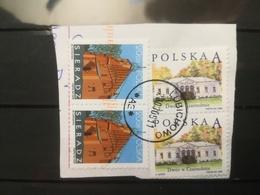 FRANCOBOLLI STAMPS POLONIA POLAND 2005 USED SU FRAMMENTO SIERADZ ANNULLO LUBICHOWO POLSKA OBLITERE' FRAGMENT - Usati
