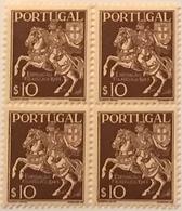 """POR#4800-Block Of 4 MNH Stamps Of 10 Centavos - """"3. Exposição Filatélica Portuguesa"""" - Portugal - 1944 - Blocchi & Foglietti"""