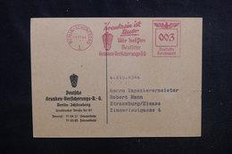 ALLEMAGNE - Carte Commerciale De Berlin Pour Strasbourg En 1941, Affranchissement Mécanique -  L 52497 - Briefe U. Dokumente