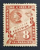 Porte, Multada 8 Centavos, Valparaiso, Chile, *, **, Or Used - Chile