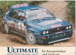 Pubblicitaria Rally Lancia Delta Integrale Evo III Fritz Waldherr Cartoncino Fg - Rally