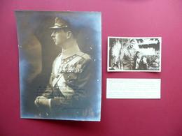 Autografo Carlo II Di Romania Grande Fotografia Dedica Firma Aviatore Marin Raro - Autografi