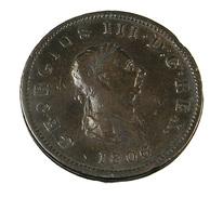 1 Penny - Angleterre - 1806 - Patine Foncée - Cuivre - TB + - - 1662-1816 : Anciennes Frappes Fin XVII° - Début XIX° S.