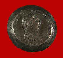 1 Penny - Angleterre - 1807 - Patine Foncée - Cuivre - TB + - Curiosité Tranche Aplatie - 1662-1816 : Anciennes Frappes Fin XVII° - Début XIX° S.