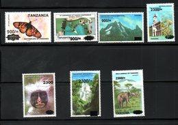 TANZANIA ,2020, ANIMALS, BUTTERFLY, MOUNTAIN Etc. O/P Of NEW VALUE, 7v.MNH**NEW! - Francobolli