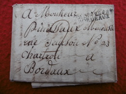 COLONIES PAR BORDEAUX LETTRE DE LA NOUVELLE ORLEANS VIA BORDEAUX 1818  PITRE PINASSEAU - …-1845 Prefilatelia