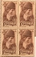 "POR#4789-Block Of 4 MNH Stamps Of 10 Centavos - ""Navegadores Portugueses"" - Portugal - 1945 - Blocchi & Foglietti"