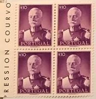 """POR#4780-Block Of 4 MNH Stamps Of 10 Centavos - """"Presidente Carmona"""" - Portugal - 1945 - Blocchi & Foglietti"""