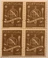 """POR#4760-Block Of 4 MNH Stamps Of 10 Centavos - """"Centenário Da Escola Naval"""" - Portugal - 1945 - Blocchi & Foglietti"""