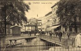 Cp Charleroi Wallonien Hennegau, Entrée De La Ville, Brücke - Belgique