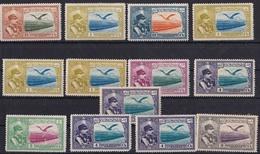 IRAN PERSANE, LOT DE 13 TIMBRES ANNEE 1930. SCOTT AP 8 REZA SHAH PAHLAVI AND EAGLE. QUELQUES AVEC CHARNIERE  -LILHU - Iran