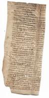 Fragment De Page Médiévale Manuscrite Sur Parchemin, 13-14e - Manuscrits