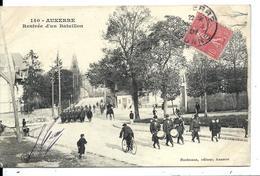 AUXERRE (vers 1905) - Rentrée D'un Bataillon - Tambours - Vente Directe X - Auxerre