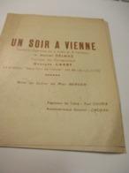 Programme/Un Soir à Vienne/Fantaisie-Opérette/Marcel DELMAS/G Carry/Maguy Gauthier/ Avec Autographes/1947       PROG263 - Programs