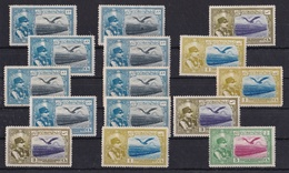 IRAN PERSANE, LOT DE 15 TIMBRES, ANNEE 1930. SCOTT AP 8, REZA SHAH PAHLAVI AND EAGLE. AVEC CHARNIERE  -LILHU - Iran