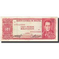 Billet, Bolivie, 100 Pesos Bolivianos, L.1962, 1962-07-13, KM:164A, TTB - Bolivie