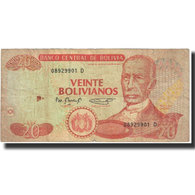 Billet, Bolivie, 20 Bolivianos, 1986, 1986-11-28, KM:205a, TTB - Bolivie