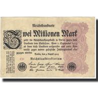 Billet, Allemagne, 2 Millionen Mark, 1923, 1923-08-09, KM:104b, SPL - 1918-1933: Weimarer Republik
